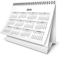 Daňový kalendář 2016